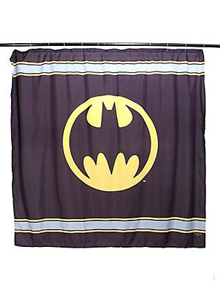DC Comics Batman Logo Shower Curtain, | Geeks United. | Pinterest ...
