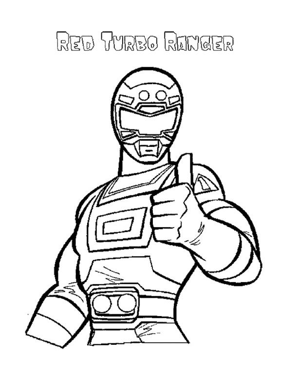 red power ranger coloring pages - photo#25