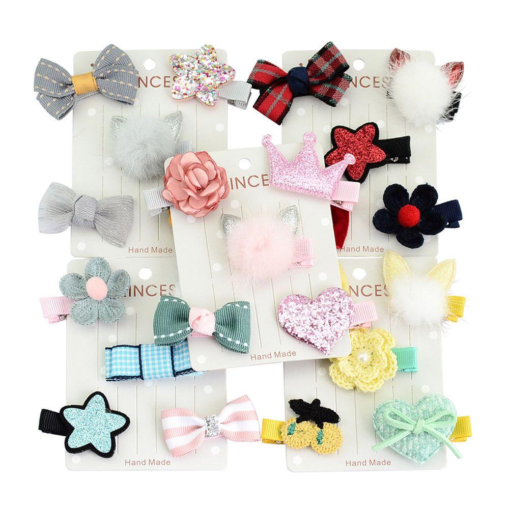1set Kids Baby Girls Children Toddler Flowers Hair Clip Bow Accessories Hairpin