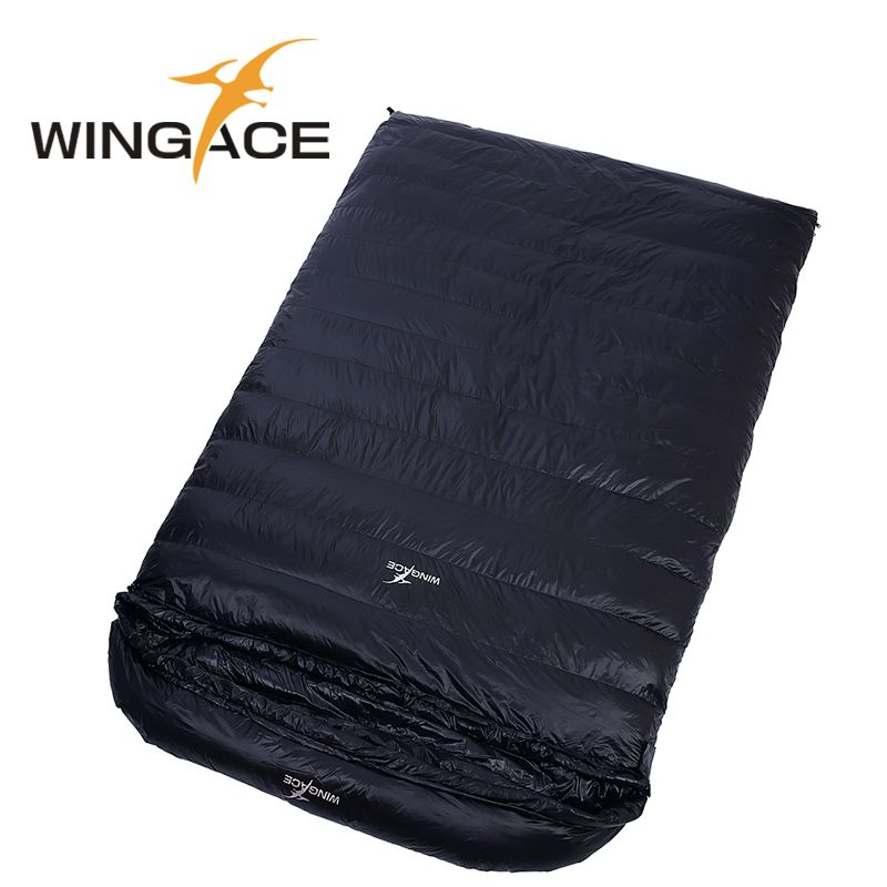 0758a675718 Fill 2000G Goose down ultralight camping sleeping bag outdoor envelope Travel  sleep adult Winter sleeping bag for 2 people