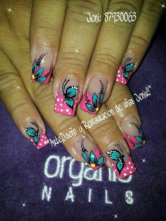 Pin de Sandra Molina en uñas | Pinterest | Diseños de uñas ...