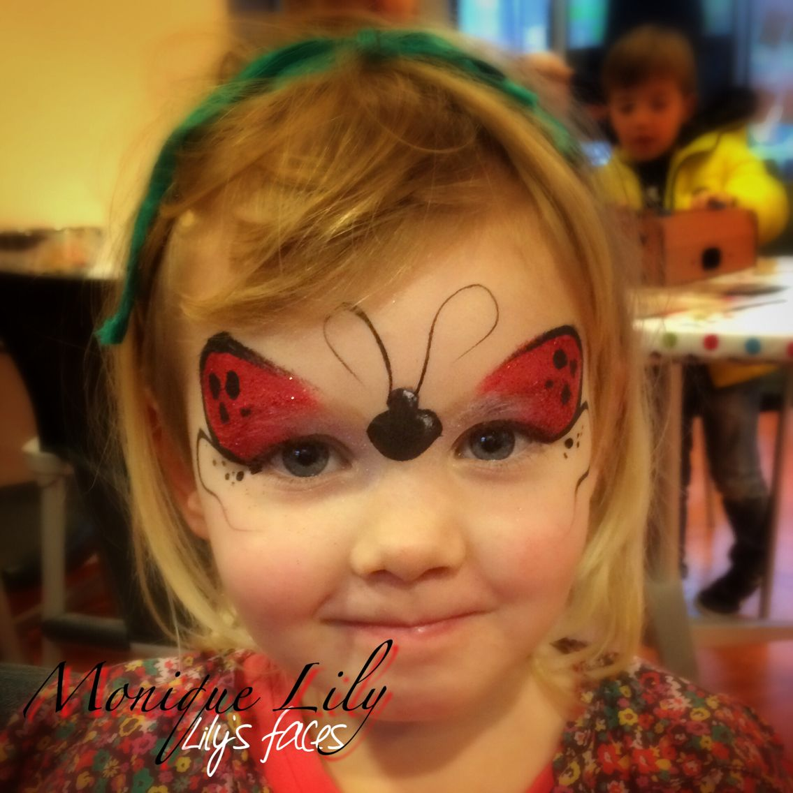 Ladybug Face Painting For Costumes