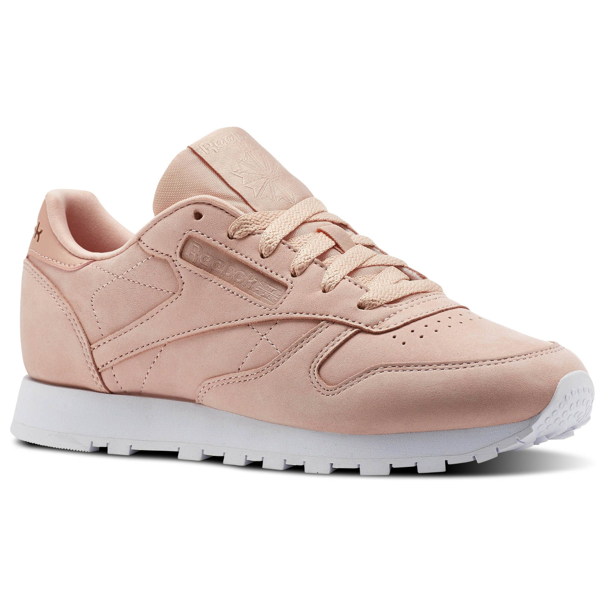 5e0de195360 Go au naturel. These neutral-tinted women s Classic Leather shoes blush  with on-