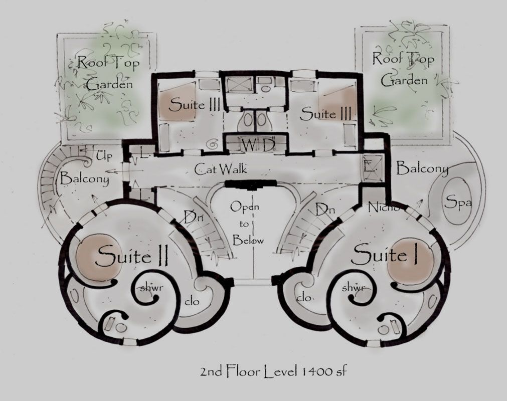 Castle House Plan Kinan House