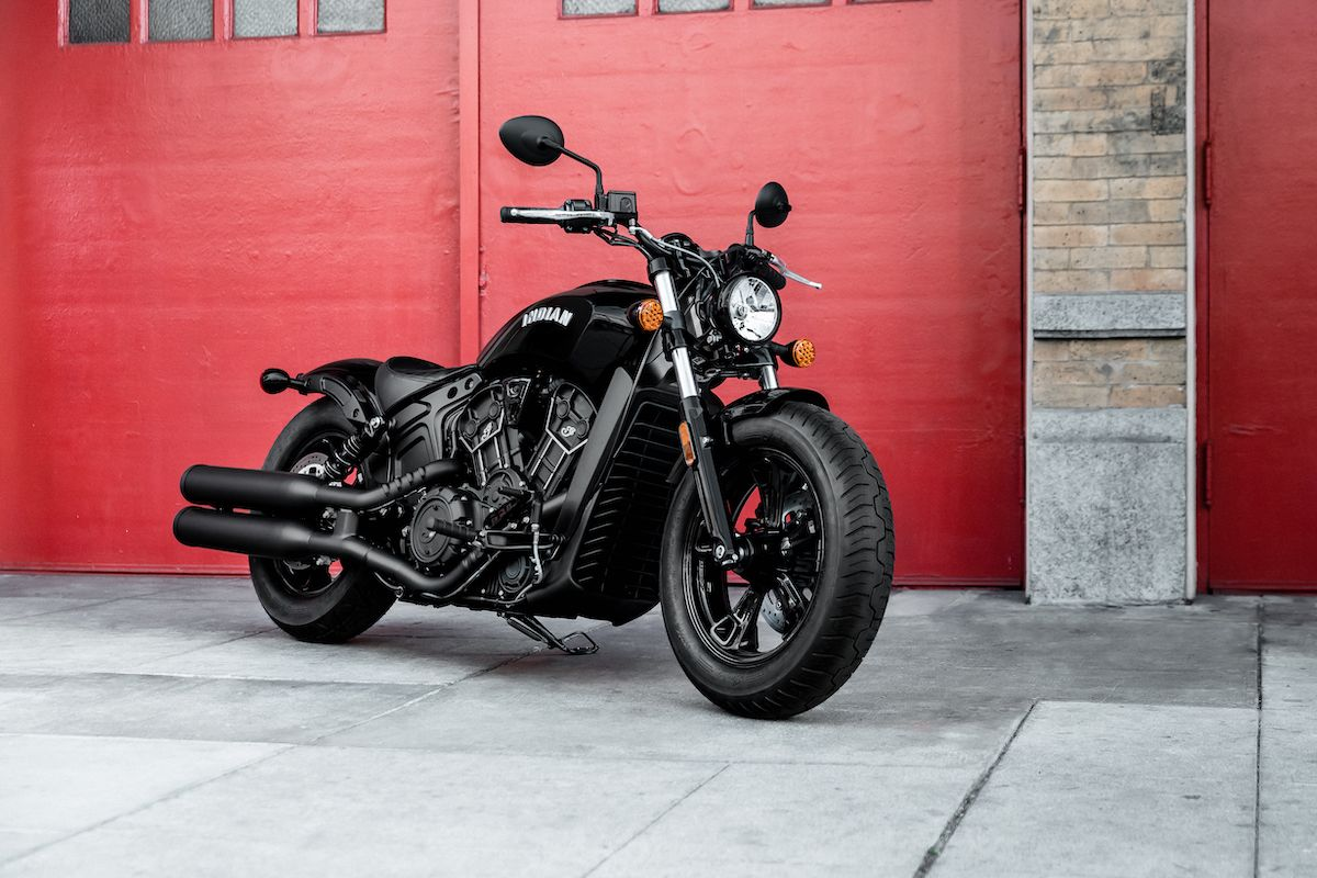 Indian Motorcycle Debuts New Blacked Out Scout Bobber Sixty Indian Motorcycle Scout Retro Motorcycle Bobber [ 800 x 1200 Pixel ]