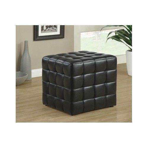 Ottoman Cube Furniture Foot Stool Club Leather Look Rest