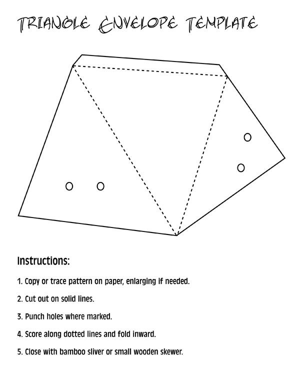 triangle envelope template Templates Pinterest Envelopes