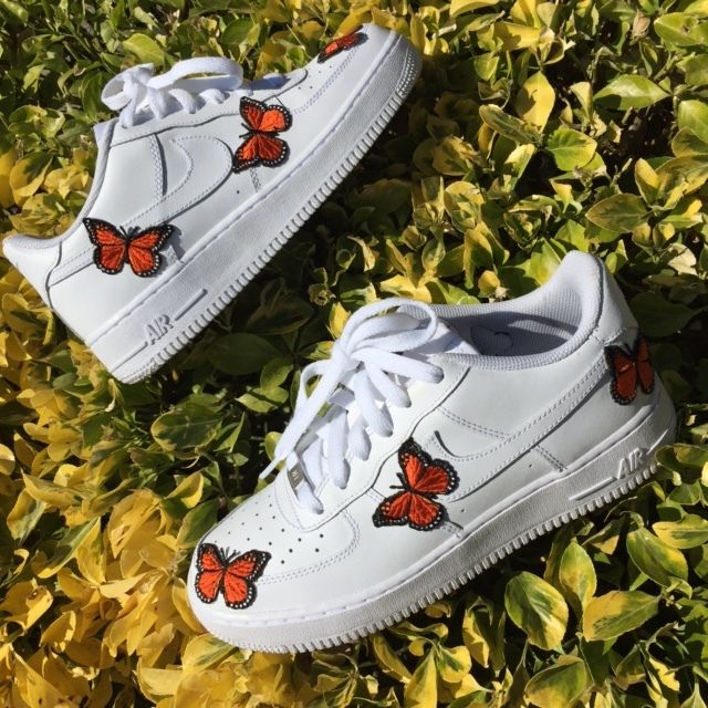 Mariposa Air Force 1 Custom Aesthetic shoes, Shoes