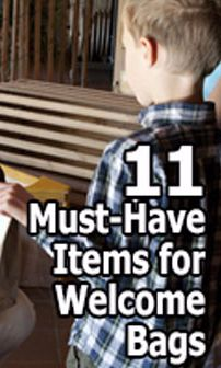 11 Must-Have Items for Welcome Bags #churchitems