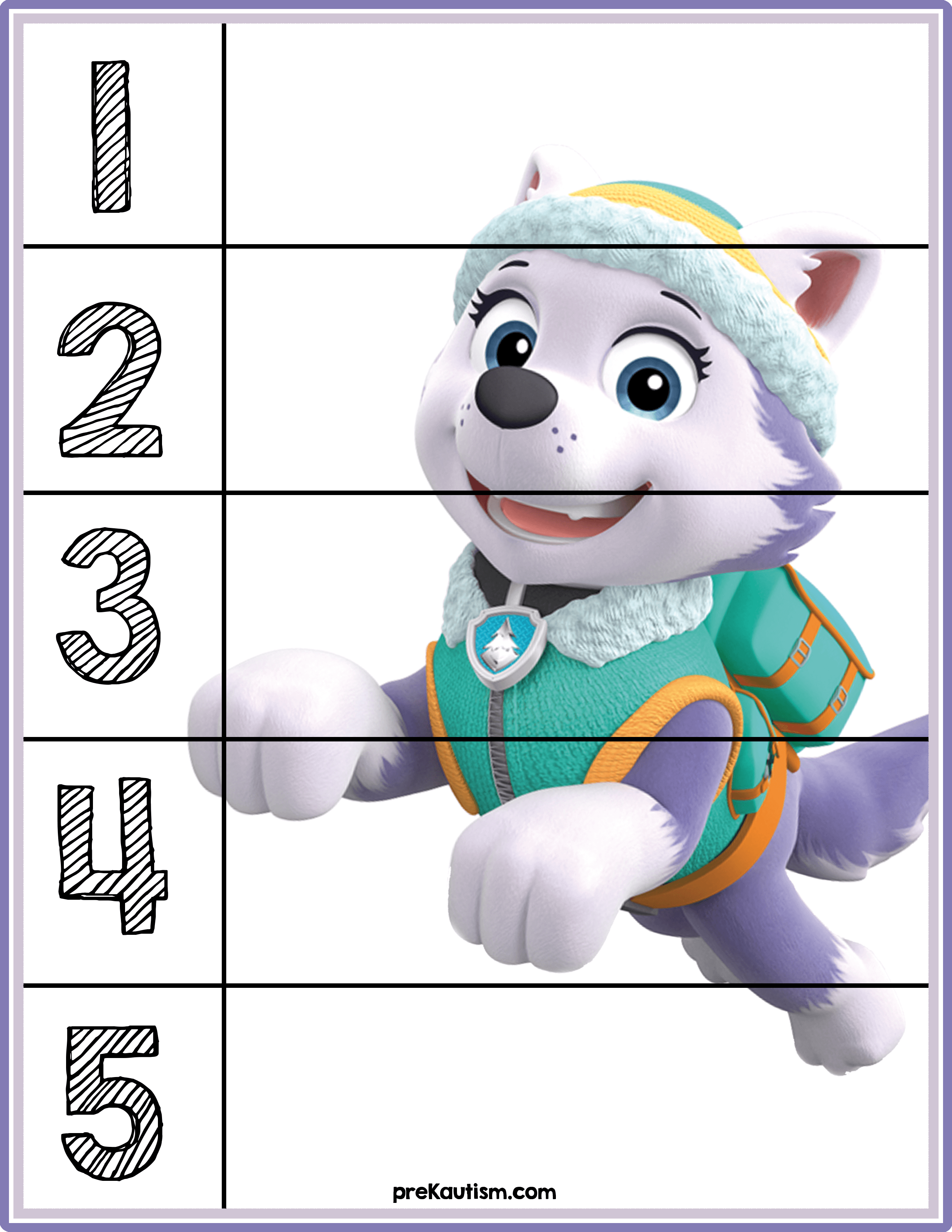 Free Paw Patrol Counting Mats Five Bees Preschool Counting Autism Activities Kids Learning [ 791 x 1024 Pixel ]