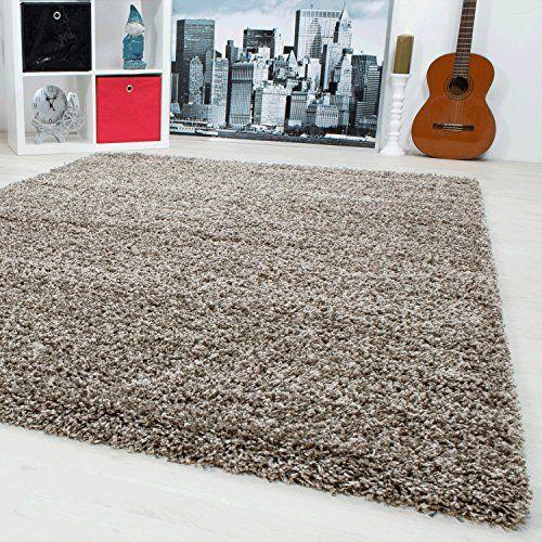 Teppiche Hochflor Shaggy für Wohnzimmer, Esszimmer Gäste
