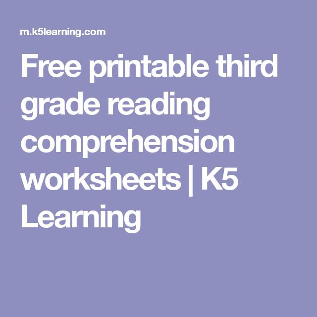 Free Printable Third Grade Reading Comprehension Worksheets K5 Learning  Reading Comprehension Worksheets, Reading Comprehension, Comprehension  Worksheets