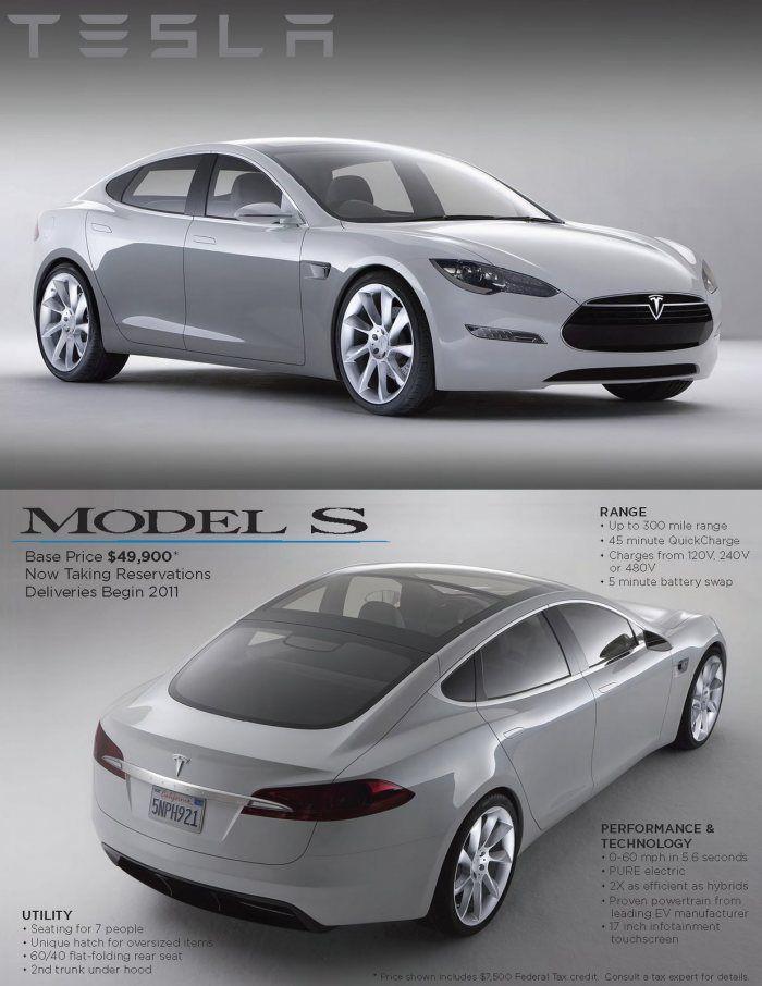 Tesla Model S Electric Sports Car Tesla Model S Electric Cars