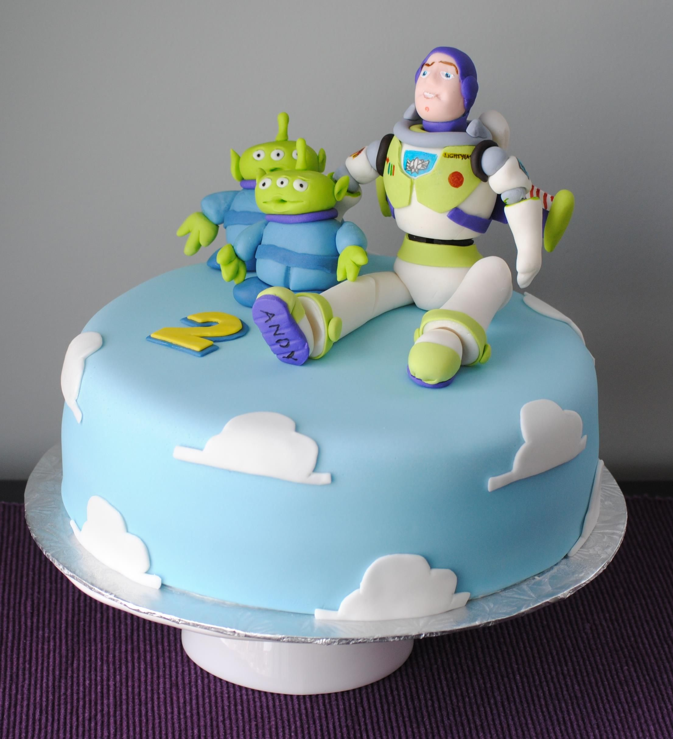 Buzz Lightyear Birthday Cake Aliens Pizza Planet Toy Story