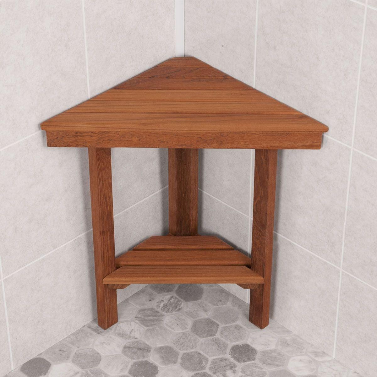 Image Result For Small Wood Shower Stool Corner Shower Teak
