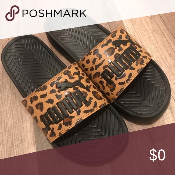 IN Search Of PUMA Popcat Leopard slides