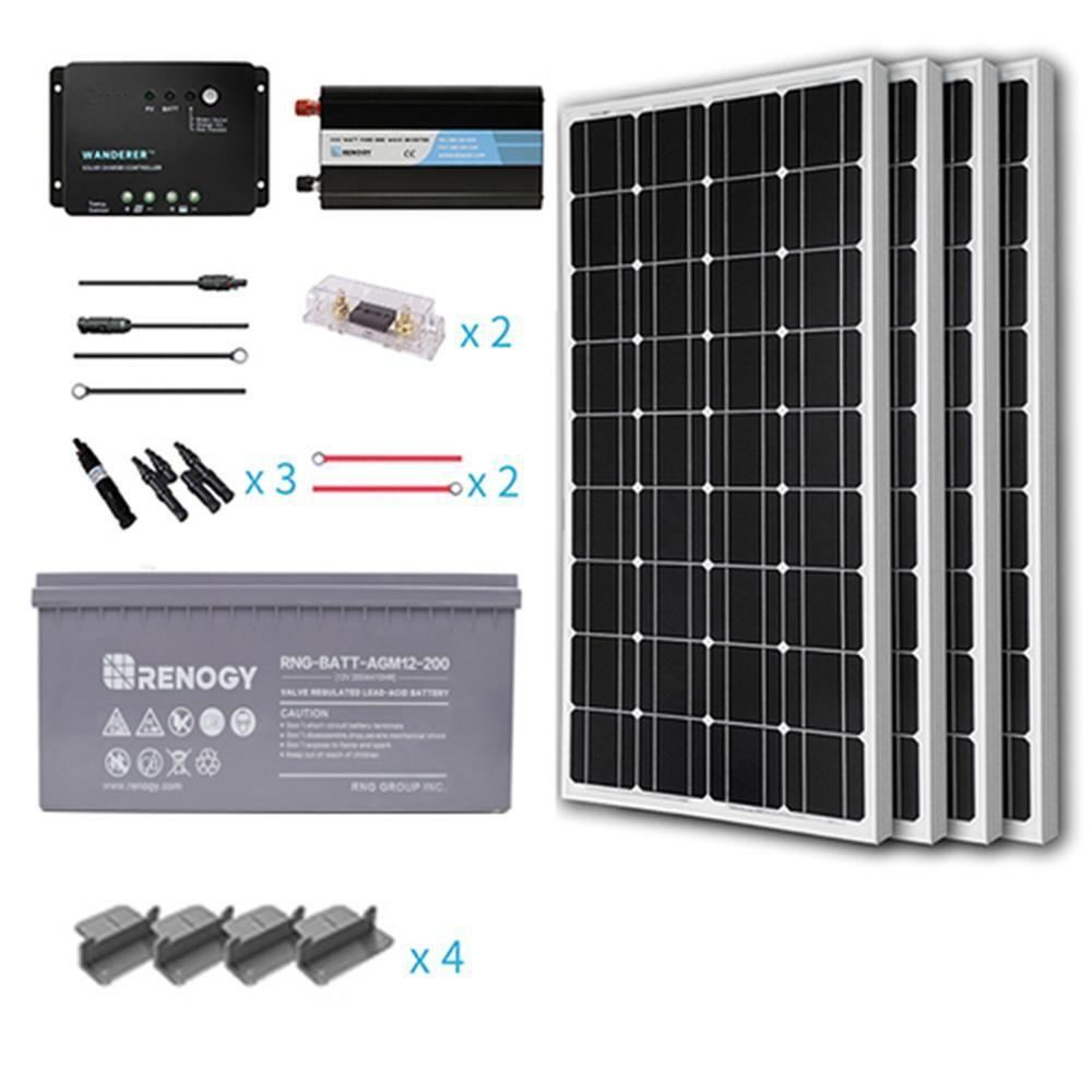 400-Watt Starter Complete Solar Panel Kit Mono Off-Grid