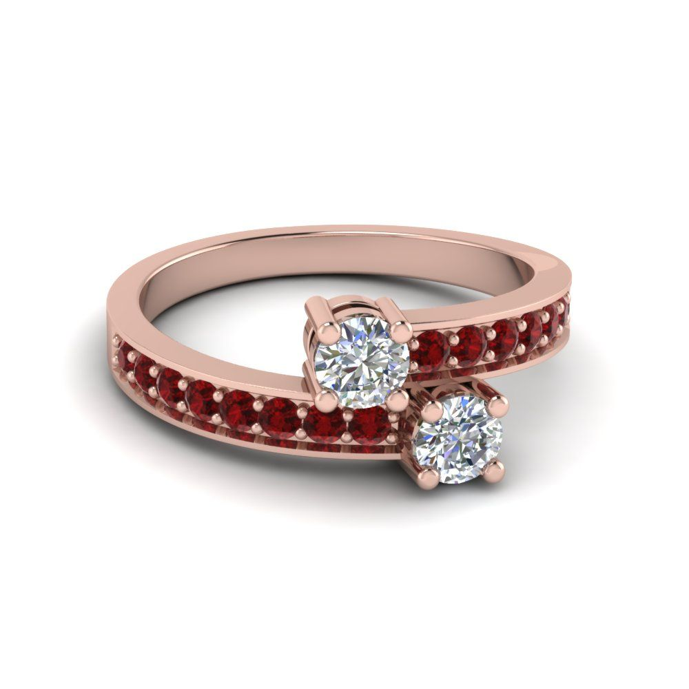 wedding l scene classic gemvara a romance matching gemstone bands