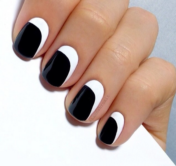 Black and White nail art manicure - simple --HannahRox Nails - Black And White Nail Art Manicure - Simple --HannahRox Nails Manis