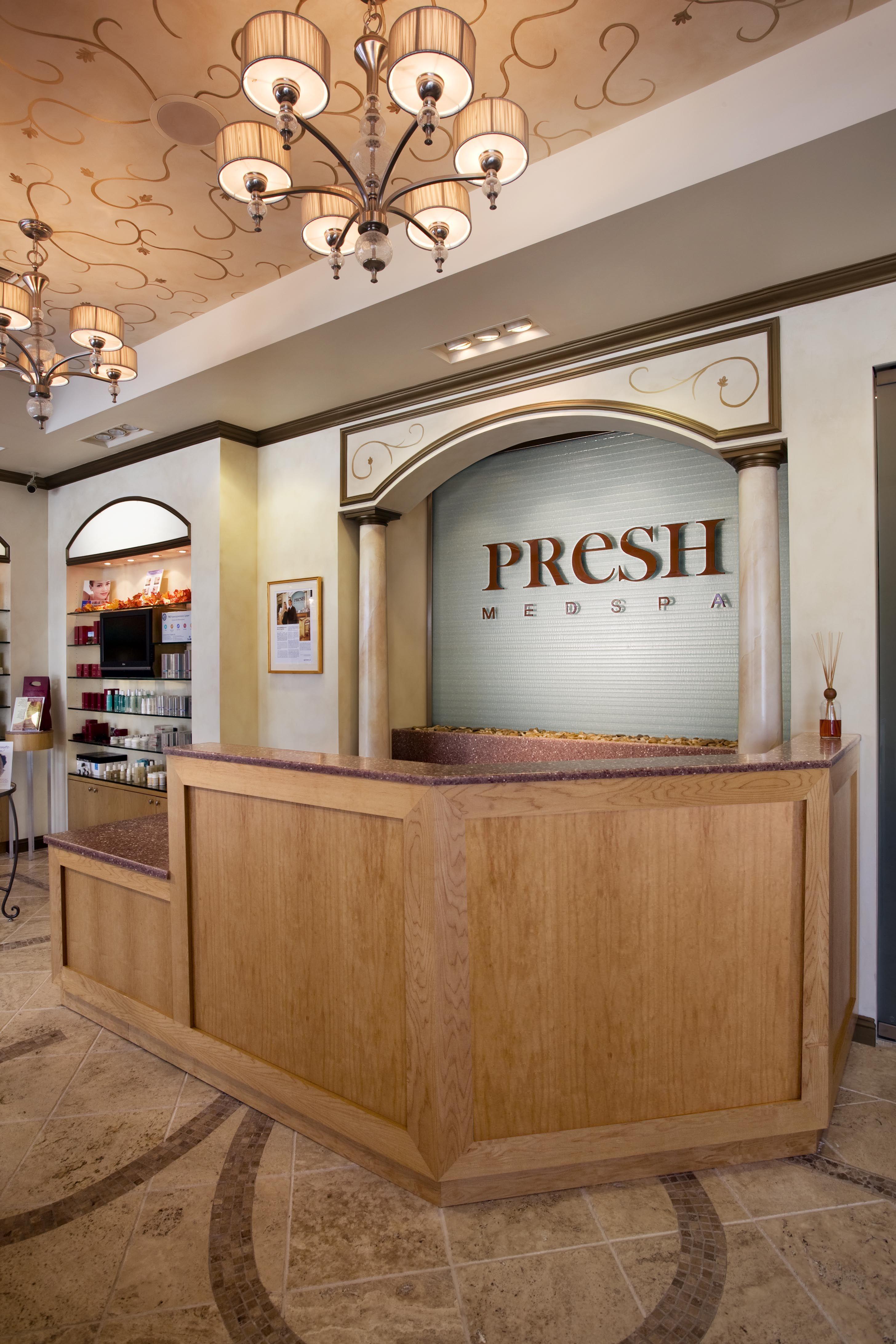 Presh Medical Spa Reception Retail Interior Design by Michele