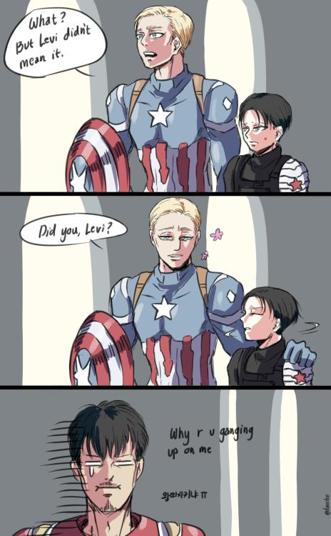 혼자서도 참 잘 놀아요 - Couldn't stop seeing eruri in Captain America:...
