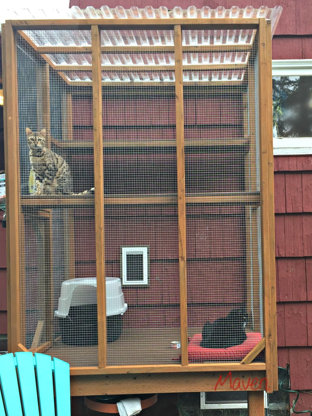 Not Everyone Can Put Their Litter Box On A Catio But We Re One Step Closer To An Odor Free Home Clumpandseal A Cat Patio Cat Enclosure Outdoor Cat Enclosure