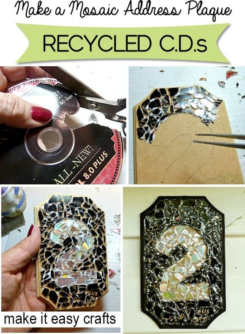 35 ways to recycle old cds diy pinterest mosaik basteln und ideen. Black Bedroom Furniture Sets. Home Design Ideas