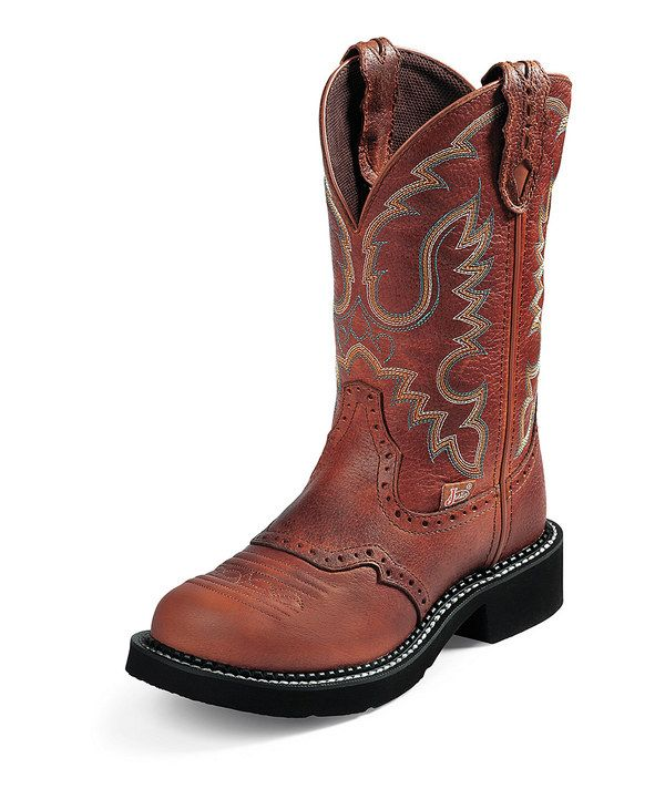 Look at this Justin Boots Saddle Gypsy Collection Cowboy Boot on #zulily today!