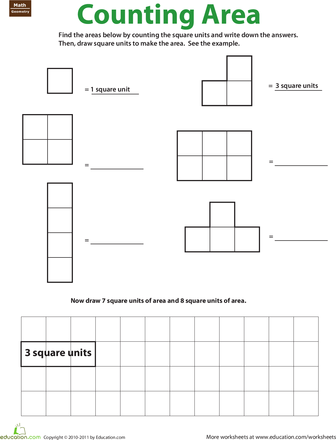 Geometry Counting Area Math Geometry Pinterest Worksheets