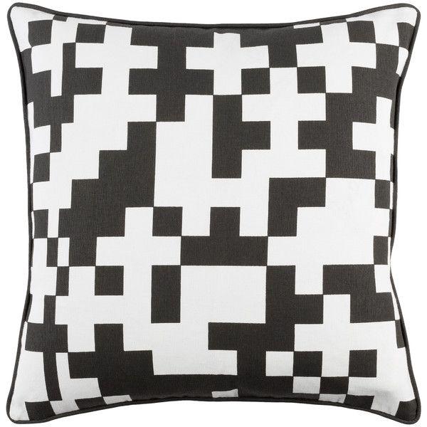 Inga Puzzle Cotton Throw Pillow Cover