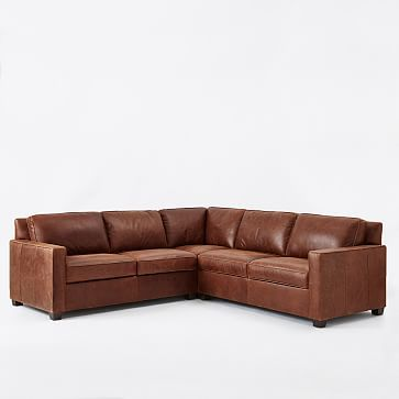 build your own henry leather sectional pieces westelm west elm - Sectional Leather Sofas