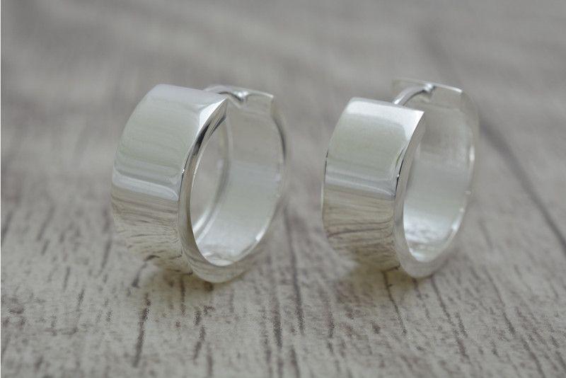 Klappcreolen+hochglanz+aus+Silber+925+von+Schmuck-Batih+auf+DaWanda.com