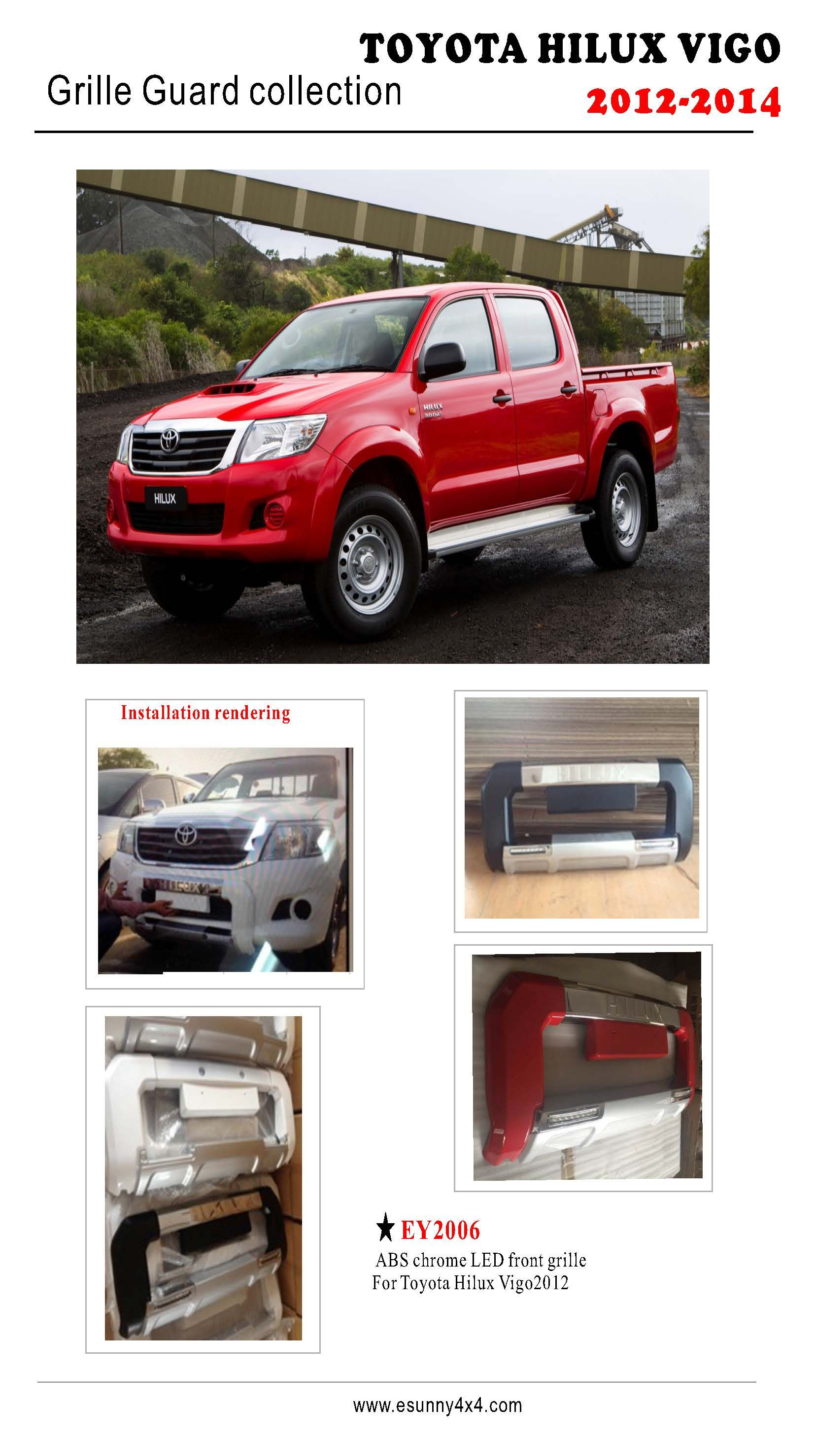 Hilux vigo front grille guard 2012 2014 without led toyota hilux vigo accessories pinterest toyota hilux and toyota