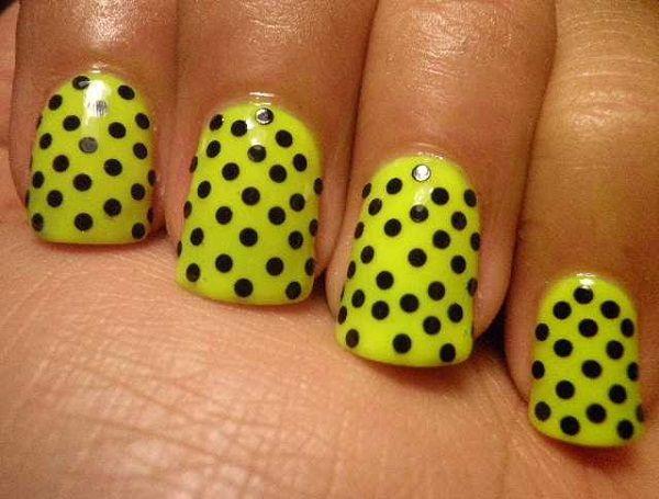 Polka Dots Nail Designs