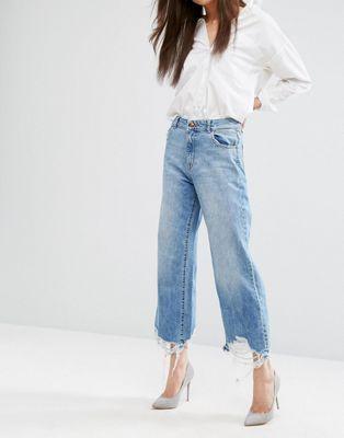 DL1961 Hepburn Crop Wide Leg Jean with Raw Hem  91f13e3dd56