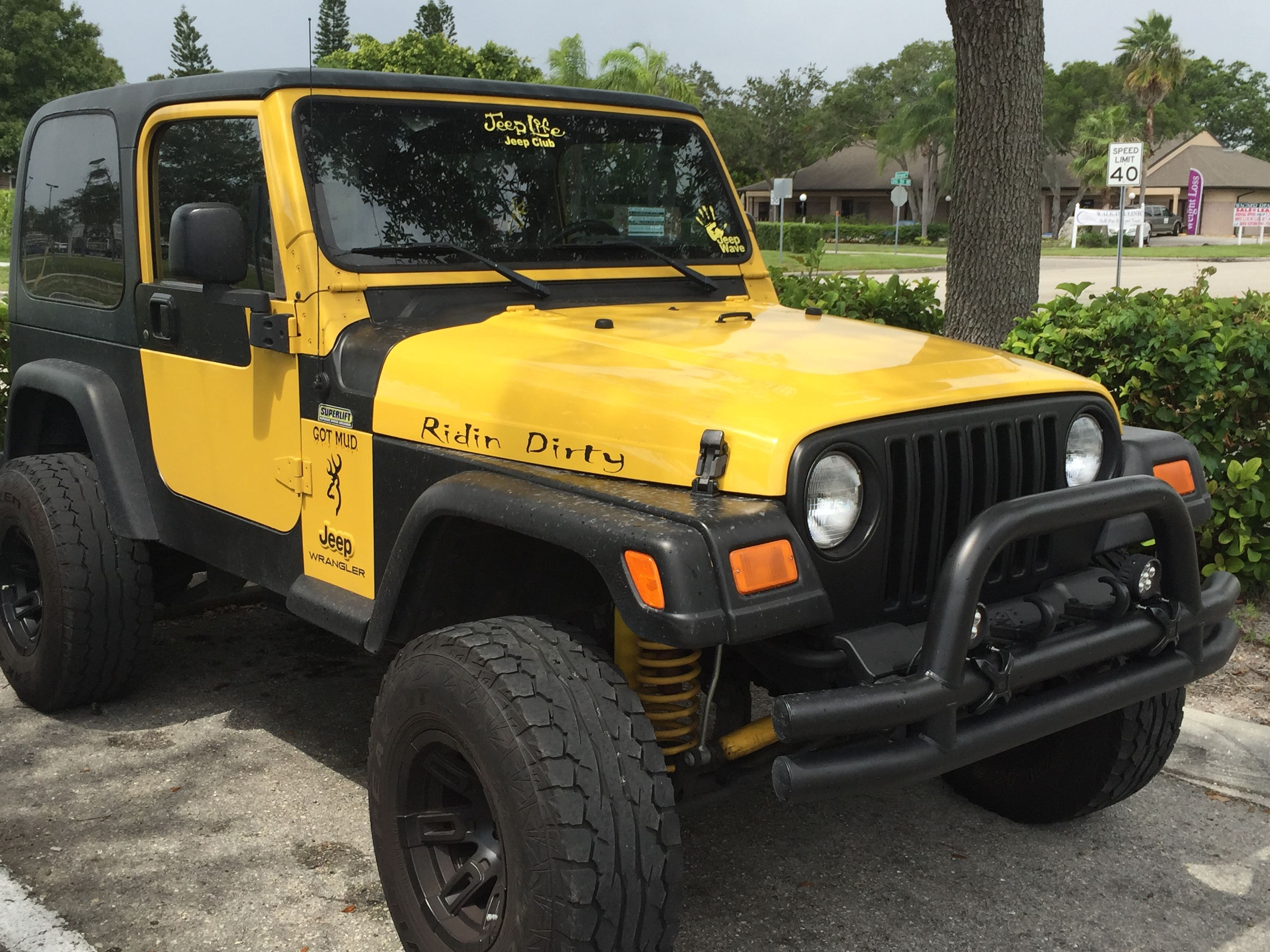 Yellow and black wrangler tj see more here