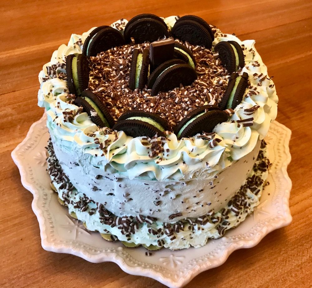 Fancy and simple mint chocolate chip cake mint chocolate
