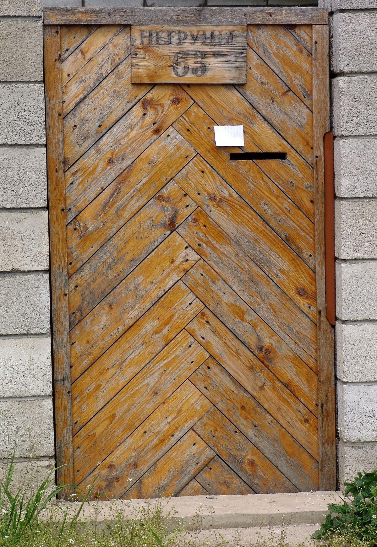 Door Wooden Herringbone Ind Door Doors Wooden Doors