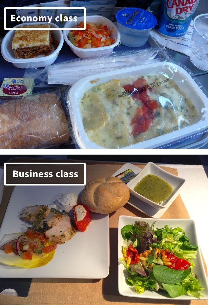 Airline Food Economy Vs. First Class (30 Pics) Airline