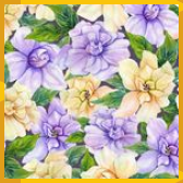 Beautiful Gardenia Flowers With Leaves In Seamless Floral Pattern Pastel Colored Botanical Background Watercolor Painting Stock Illustration  Illustration of summer leave...