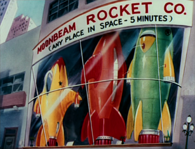 """Moonbeam Rocket Co. """"Any place in space - 5 minutes"""") 