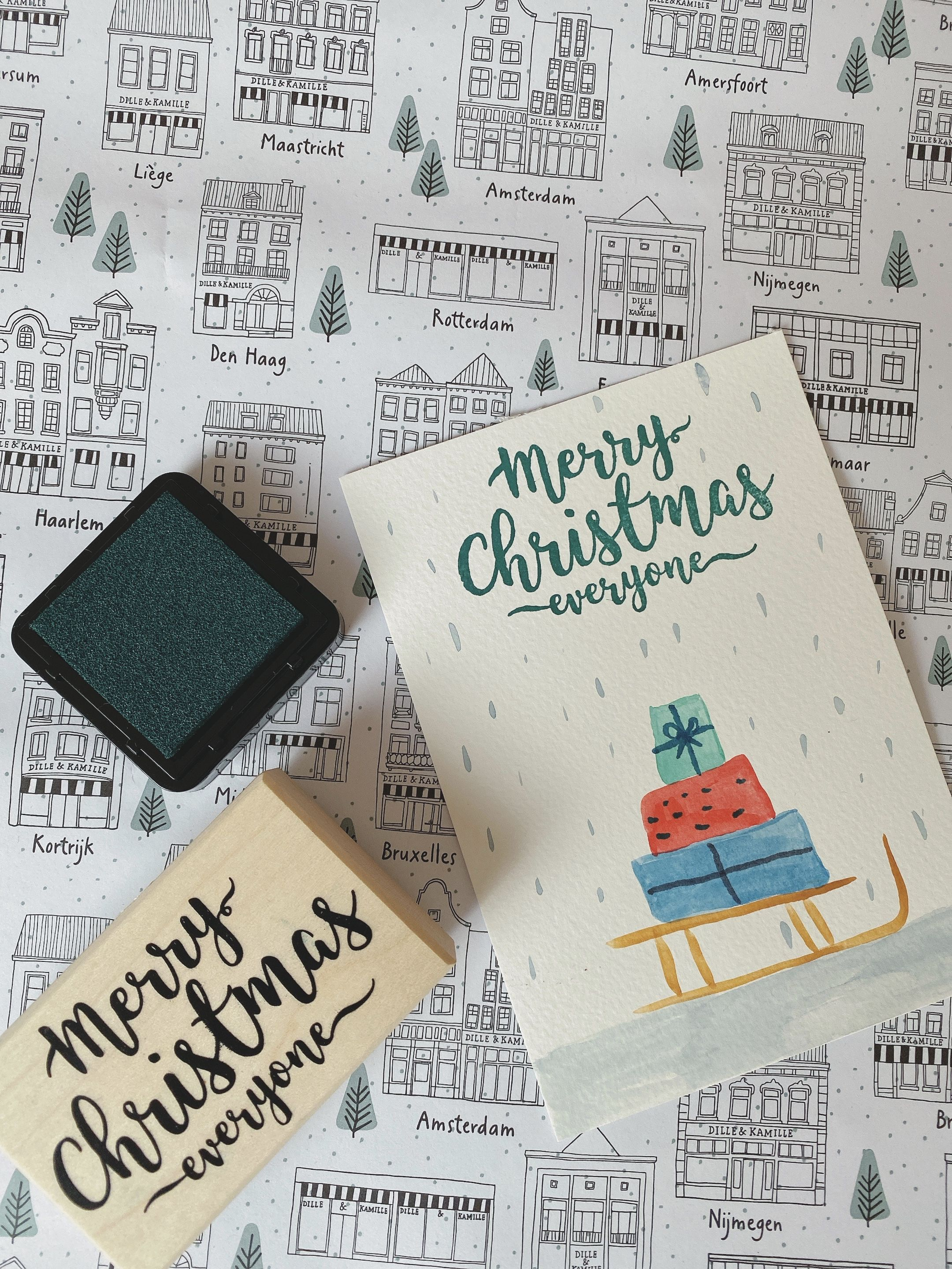 DIY Christmas card painting