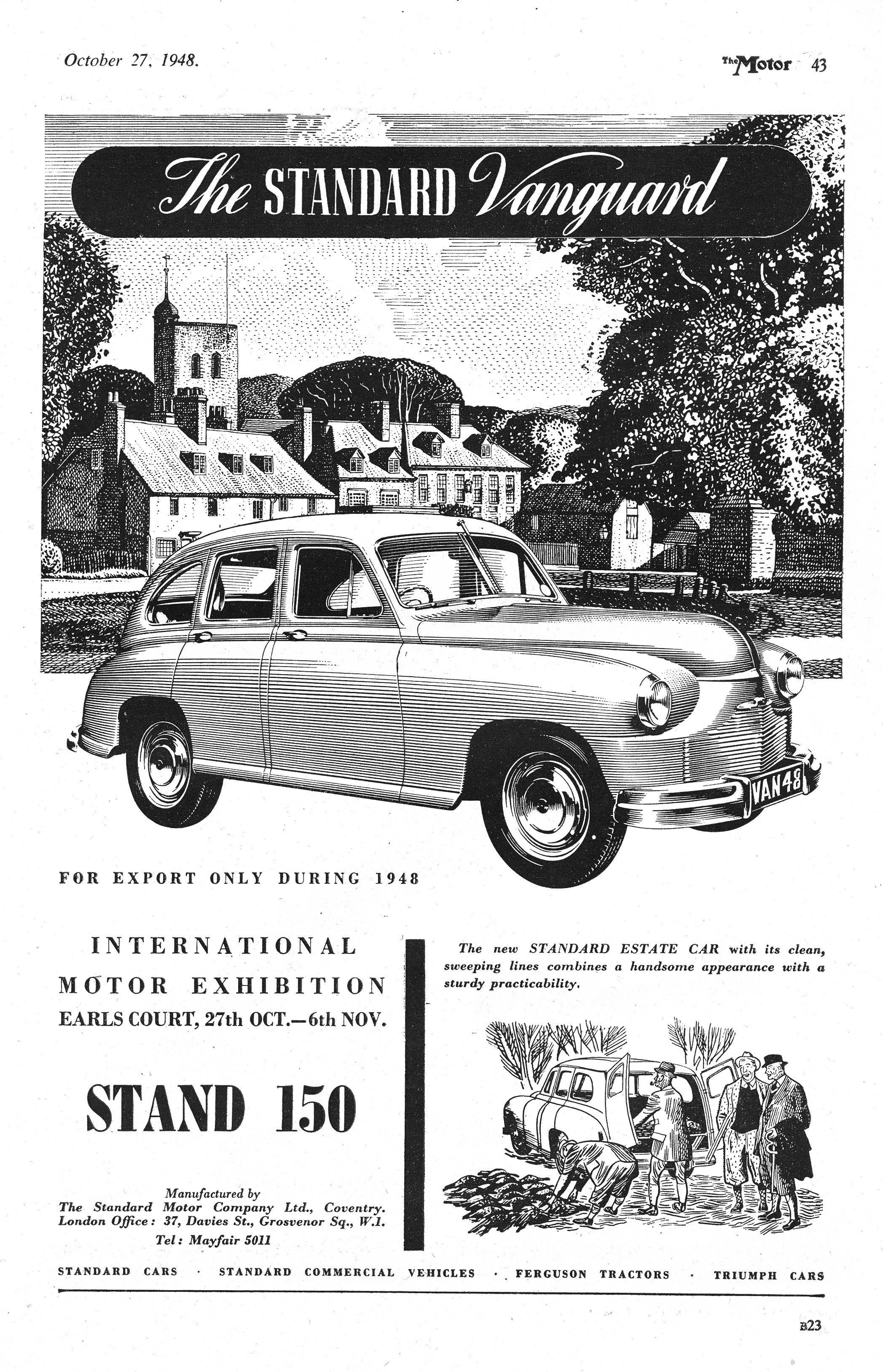 Standard Vanguard Motor Car Autocar Advert 1948. My 1956 TR2 used ...