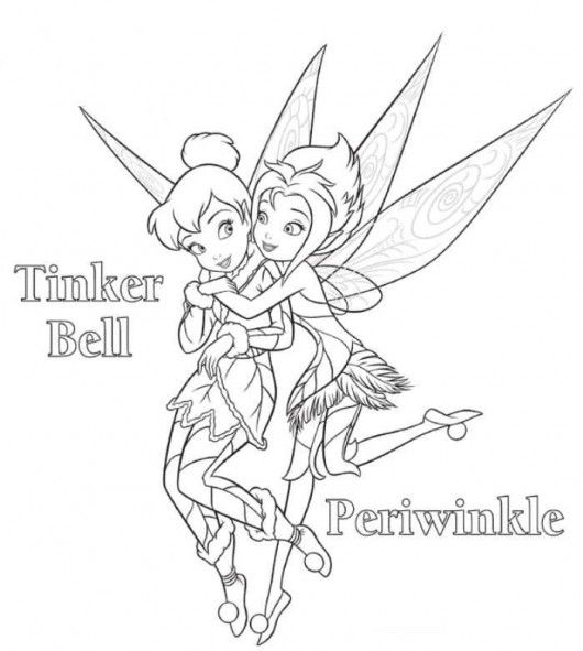 tinkerbell coloring page | Disney Coloring Pages | Pinterest ...