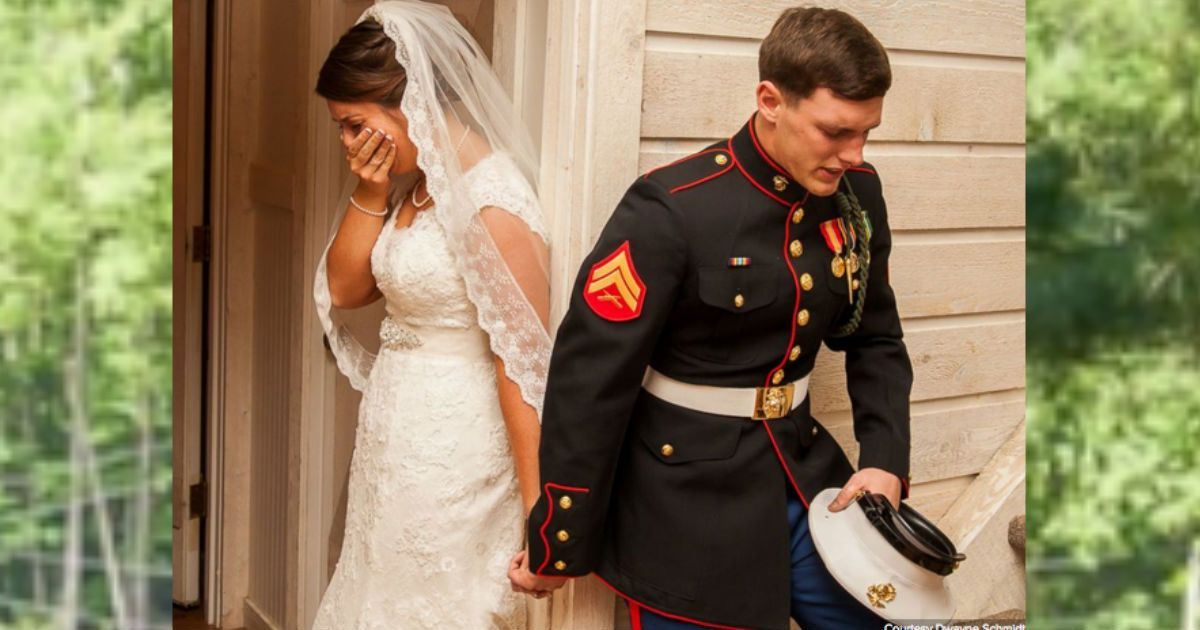 This young marine needed to pray with his bride-to-be before the wedding ceremony and this one small act has gone viral. The picture of them, praying, together will be burned in my memory FOREVER!