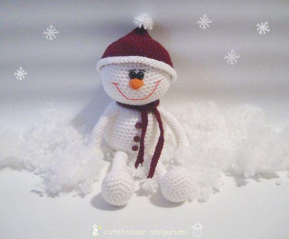 Amigurumi Snowman : Amigurumi snowman by cutebazaar on etsy toys