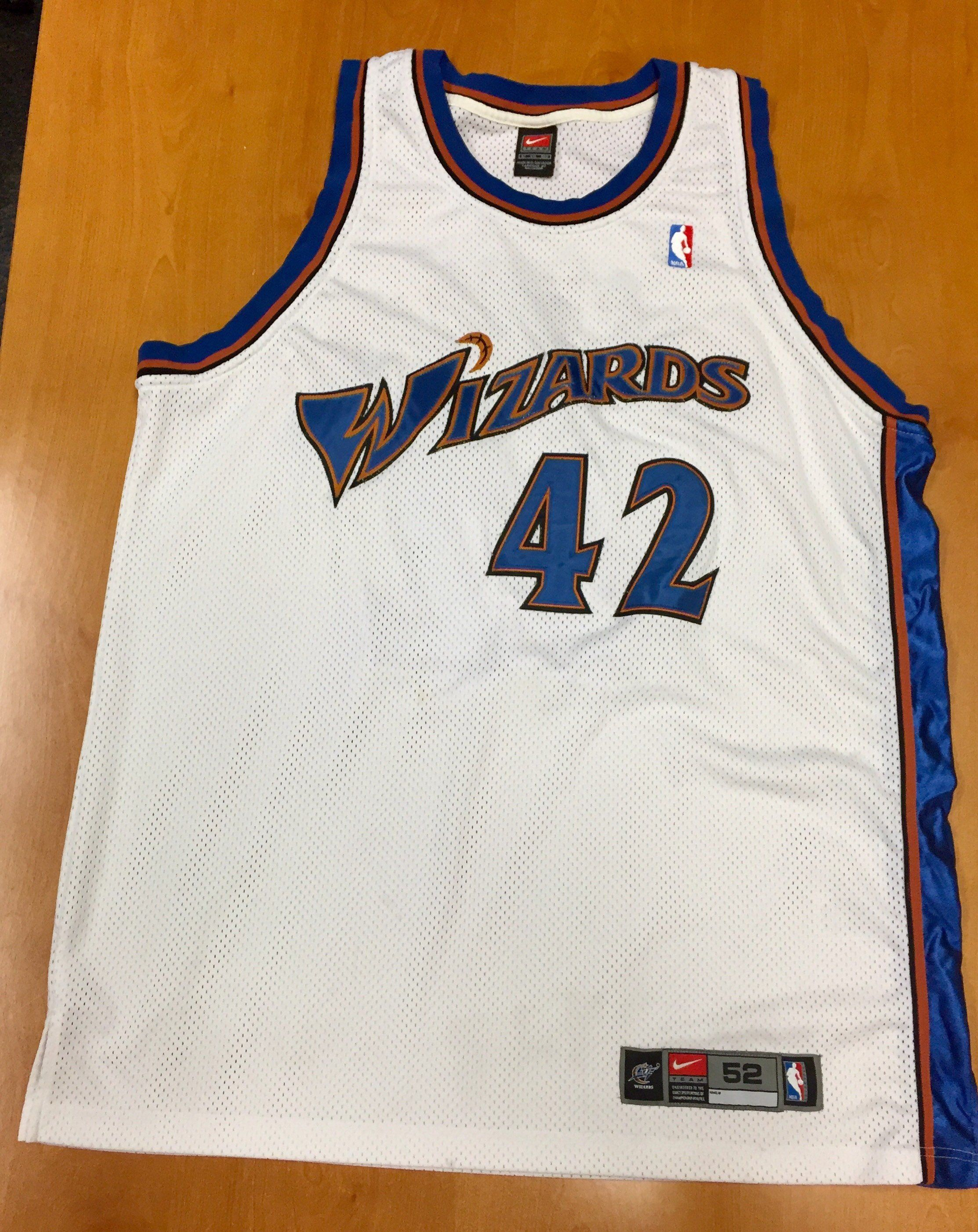 new arrival 9f3bb 1c2b5 Vintage 1990s Jerry Stackhouse Washington Wizards Authentic ...
