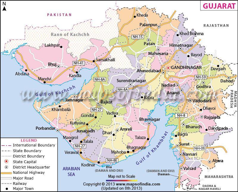 Map of gujarat krishna pinterest india and travel maps map of gujarat gumiabroncs Choice Image