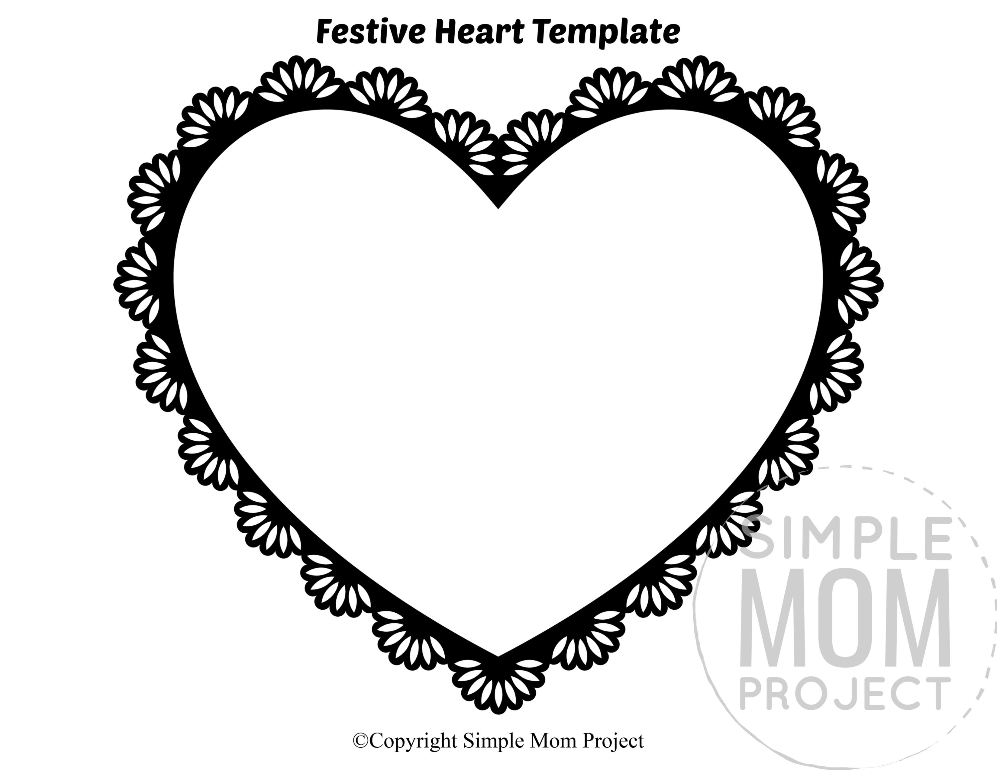 Full Page Heart Template