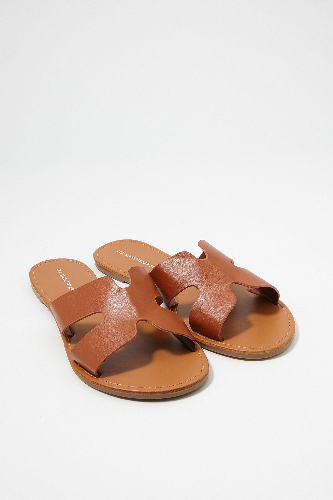 Urban Women's Geometrical FauxLeather Sandal